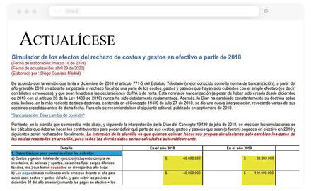 Excel para la elaboración de la declaración de renta de las personas jurídicas año gravable 2019- incluye formato 2516 y formulario 110
