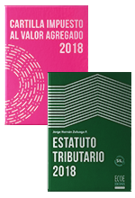 ¡Dúo imprescindible para temporada tributaria!   Estatuto Tributario 2018 y Cartilla Impuesto al Valor Agregado 2018
