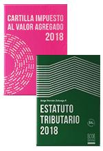 ¡Dúo imprescindible para temporada tributaria!   Estatuto Tributario 2018 y Cartilla Impuesto al Valor Agregado 2018
