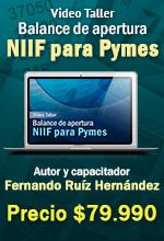 [Curso en Línea] Video Taller Balance de Apertura NIIF PYMES Desarrollo en Excel – Escuela de Finanzas y Negocios