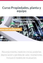 [Curso en Línea] Curso propiedades planta y equipo NIIF pymes – Escuela de Finanzas y Negocios