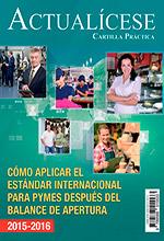 [Cartilla Práctica] Cómo aplicar el Estándar Internacional para Pymes después del balance de apertura 2015-2016