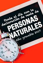 Ponte al día con la declaración de renta de personas naturales año gravable 2017