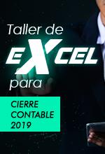 Taller de Excel para cierre contable 2019