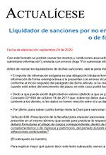 Liquidador de sanciones relacionadas con la información exógena