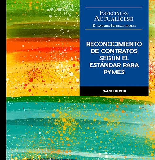 Especial estándares internacionales: Reconocimiento de contratos según el estándar para Pymes