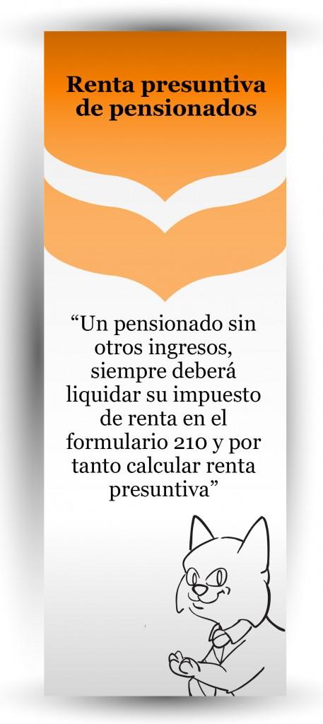 Un pensionado que tiene solo sus ingresos por pensión, ¿debe calcular renta presuntiva?