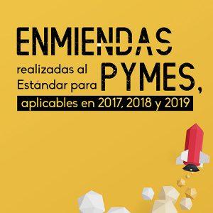 Enmiendas realizadas al Estándar para Pymes, aplicables en 2017, 2018 y 2019